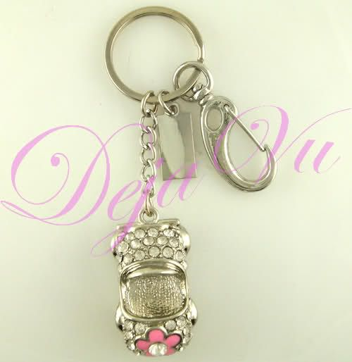 CRYSTAL CUTE CAR USB FLASH DRIVE KEYCHAIN MADE WITH SWAROVSKI ELEMENTS