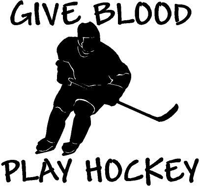Hockey Slogan Vinyl Decal Sticker Car RV Truck Window