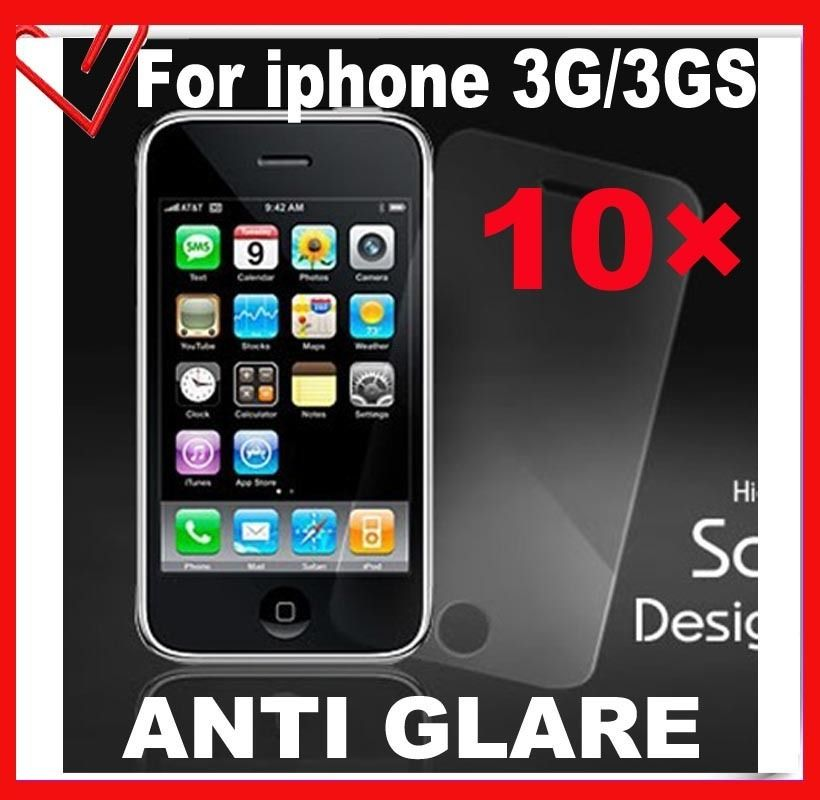 × Anti Glare LCD Screen Protector Cover Film Front for iphone 3G 3GS